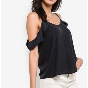 Abercrombie Woven Cold-Shoulder Top